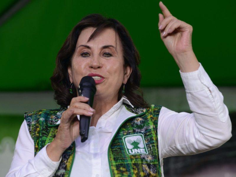 Sandra Torres habla de todo menos del combate a la corrupción
