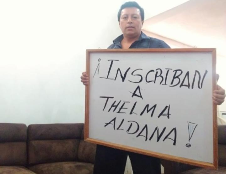 Guatemaltecos exigen inscripción de Thelma Aldana