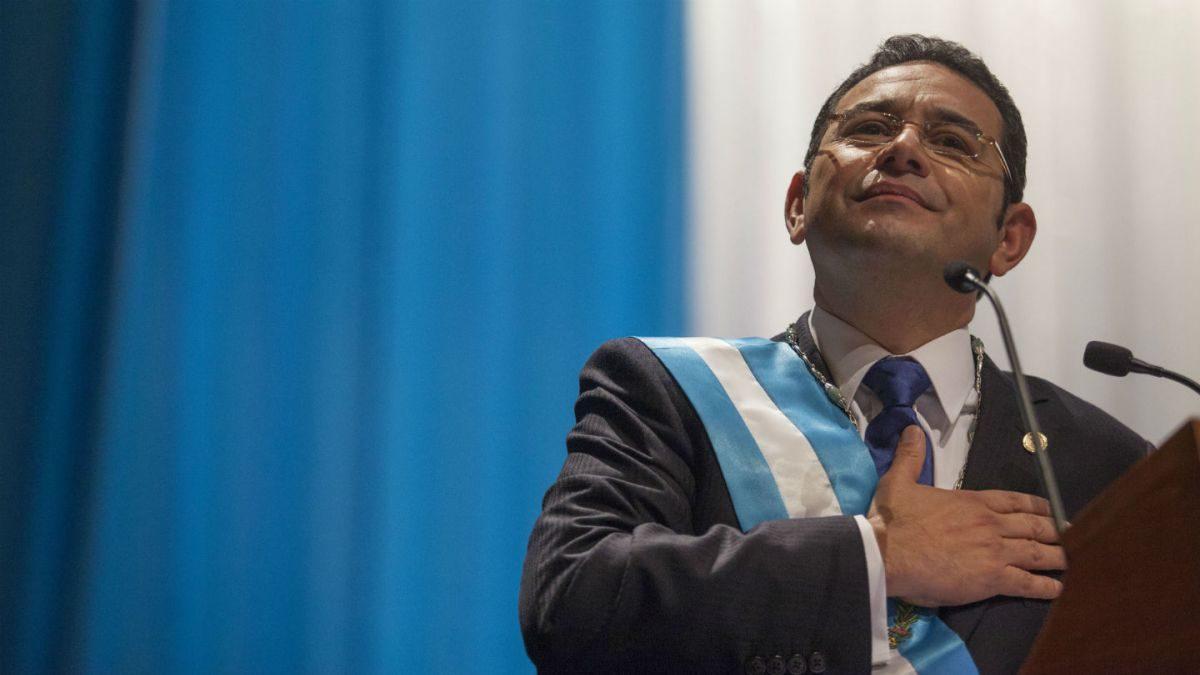 Jimmy Morales, tilda de «tragedia judicial» la decisión de la CC  de revocar la candidatura de Zury Ríos.